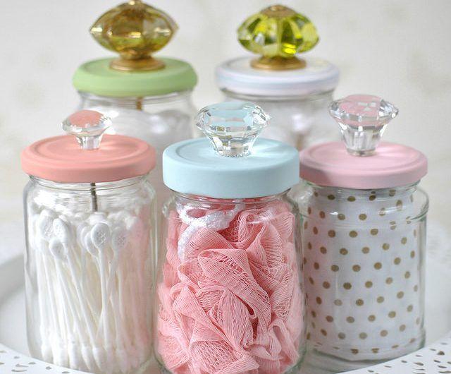 10 ideias para reutilizar frascos de vidro