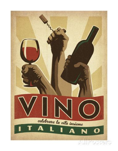 Vino Italiano Poster by Anderson Design Group at AllPosters.com