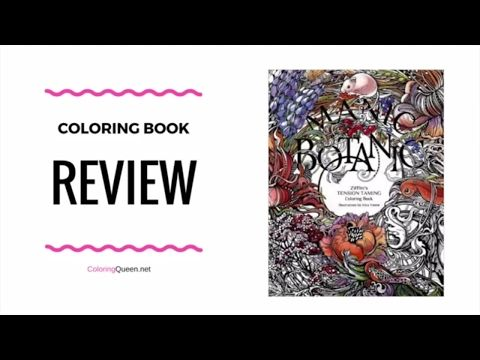 Manic Botanic Coloring Book