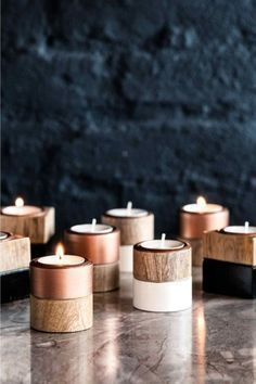 bougeoirs bois - H&M Home / Lejardindeclaire #InteriorDesignInspiration