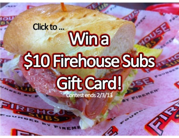 Get an exclusive Firehouse Subs catering coupon (hello Super Bowl!) and enter to win a $10 gift card!