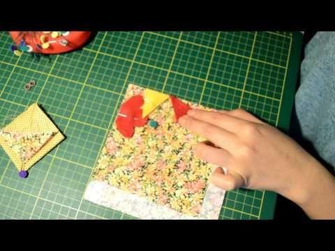 Como hacer una gallina con retazos de tela