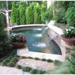 Water Pond With Three Fountains Are Great For Your Home