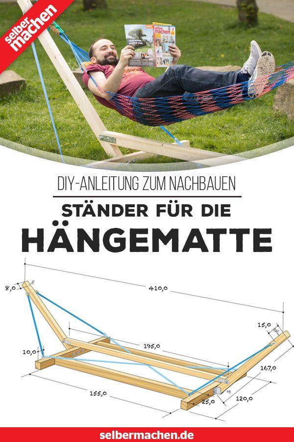 Ständer für die Hängematte selber bauen – DIY-Anleitung