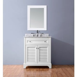 Photo Gallery For Photographers Shop for Ari Kitchen and Bath Madison White inch Single Bathroom Vanity Set