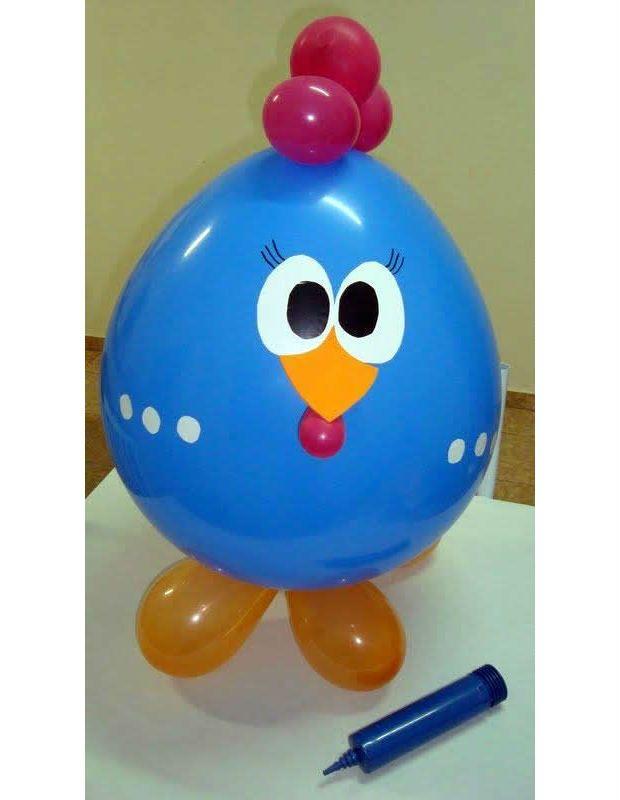 balão decorado galinha pintadinha