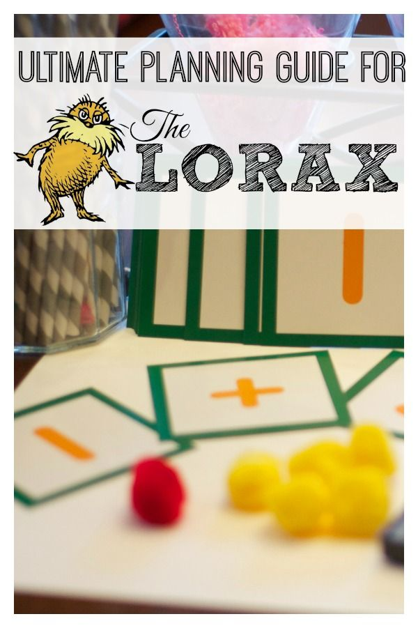 The Lorax: A Guide to Activities and Lessons from Lemon Lime Adventures