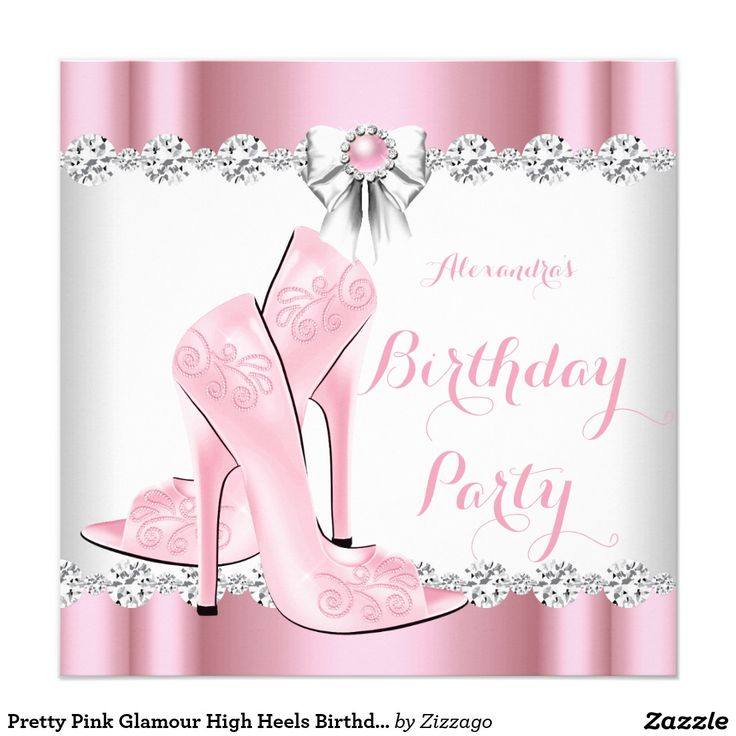 I Am One Pink And Gold Birthday Party Decorations One High: Pretty Pink Glamour High Heels Birthday Party
