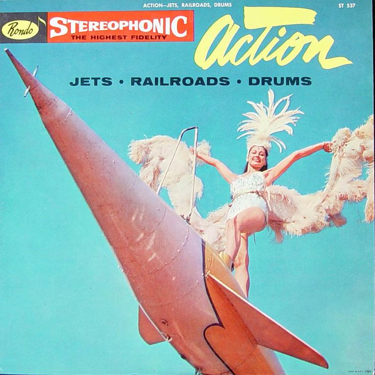 Various artists - Action - Jets - Railroads - Drums (Rondo Records; 1958) Stereo sound effects LP. #records #albums #vinyl #LP