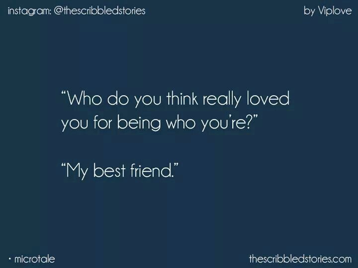 That's why best frnds r better than bfs and all sorts of other pple too