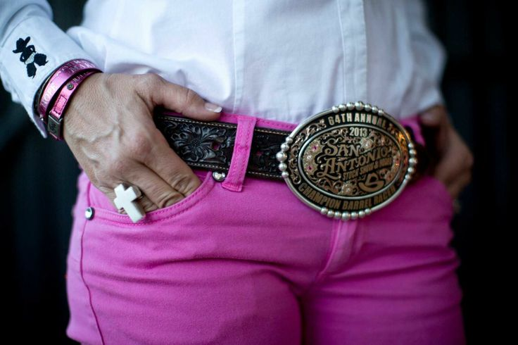 HoustonChronicle.com: Rodeo competitors show their pride with trophy buckles. Shada Brazile, a barrel racing competitor, has more than 200 buckles from competitions.