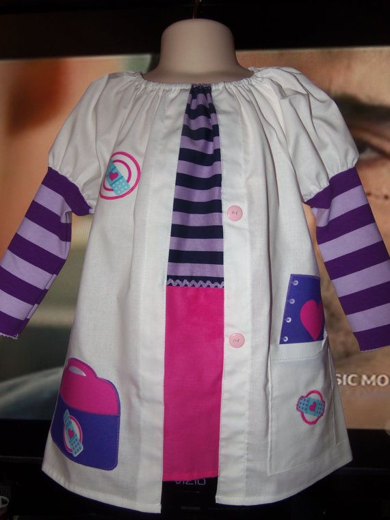 Doc McStuffins outfit or also tooo cute for dress up play https://www.etsy.com/listing/208171680/lab-coat-doc-mcstuffins-dress-long