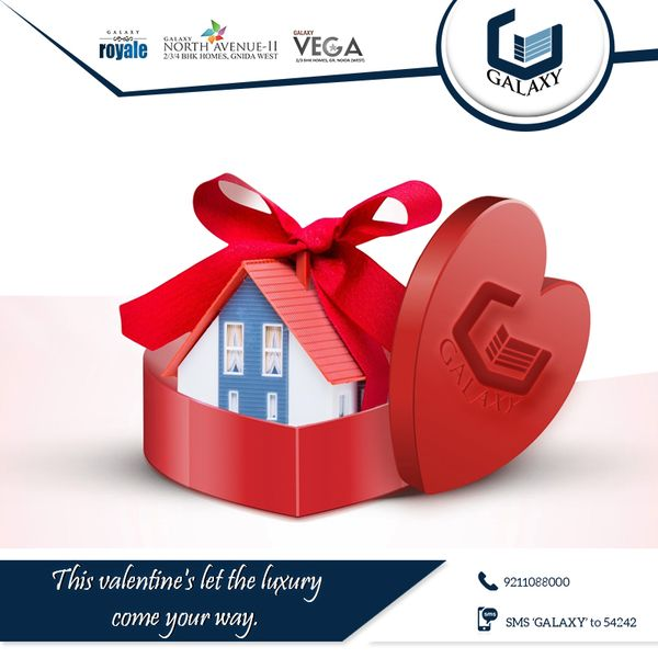 Gift your love a package of luxury this day and tie a lifetime bond with #Galaxy.    #HappyValentineDayForGalaxyGroup #GalaxyGroup #GalaxyNorthAvenueII #GalaxyPlaza #GalaxyApartment #CommercialProject #ResidentialProject #GalaxyRoyale #GalaxyGreenArcadeInnoida   Visit:-www.thegalaxygroup.com