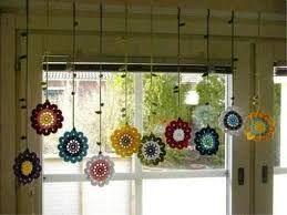 Resultado de imagen para cortina al crochet con flores