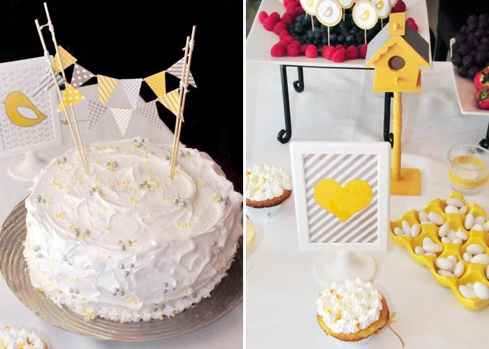 Yellow & Grey Baby Shower