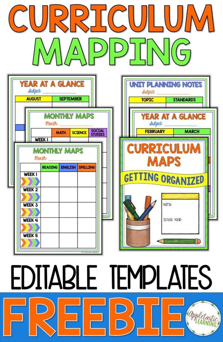 Curriculum Mapping - Getting Started with a Free Curriculum Map Template - Appletastic Learning