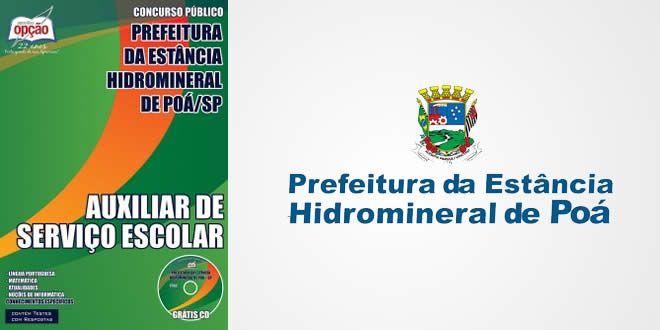 Promoção -  Apostila Auxiliar de Serviço Escolar - Prefeitura de Poá / SP  #concursos