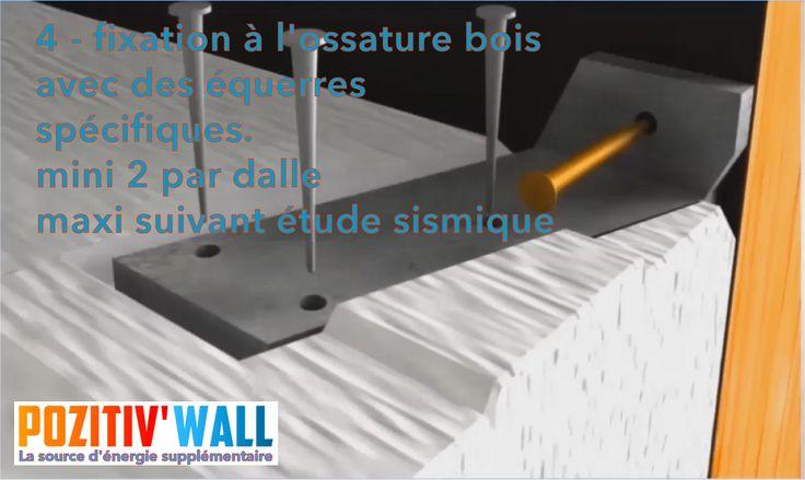 4 - Chaque dalle du POZITIV\u0027 WALL® est associée à l\u0027ossature bois