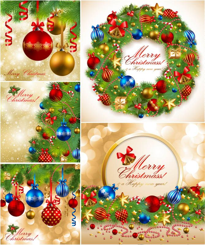 Nice Free Vector Art. Christmas Card TemplatesVector ...