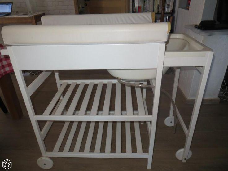 Table langer avec baignoire int gr e b b pinterest - Table a langer avec baignoire integree ...