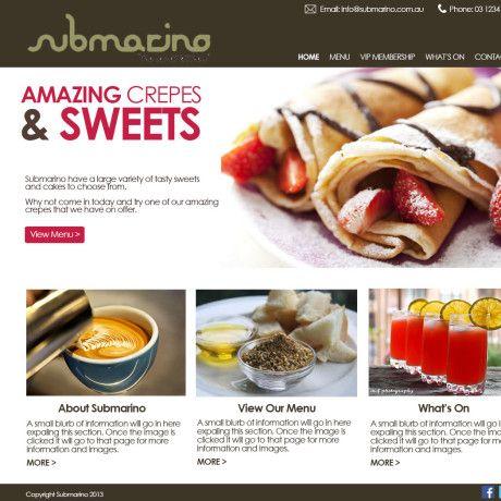 Food Supplies Website Design