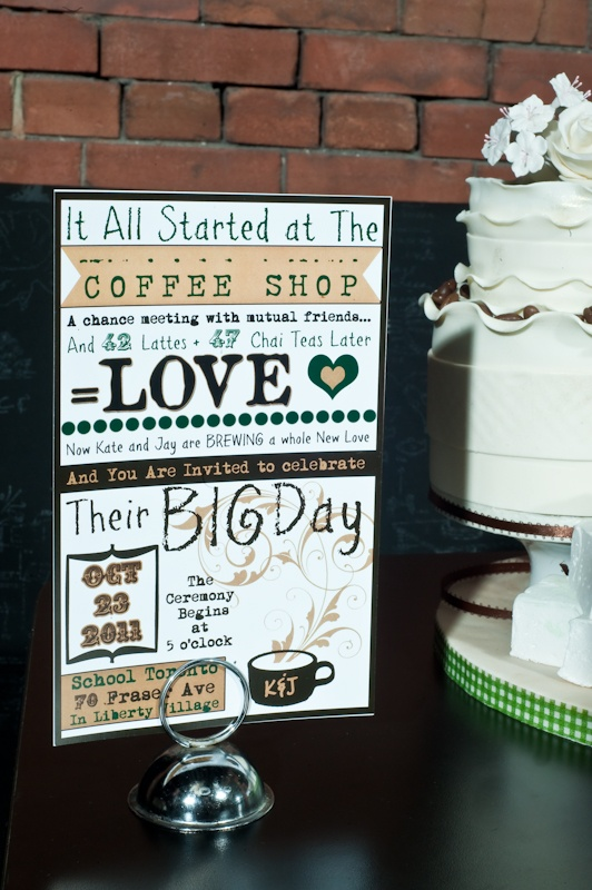 Cute Starbucks wedding theme