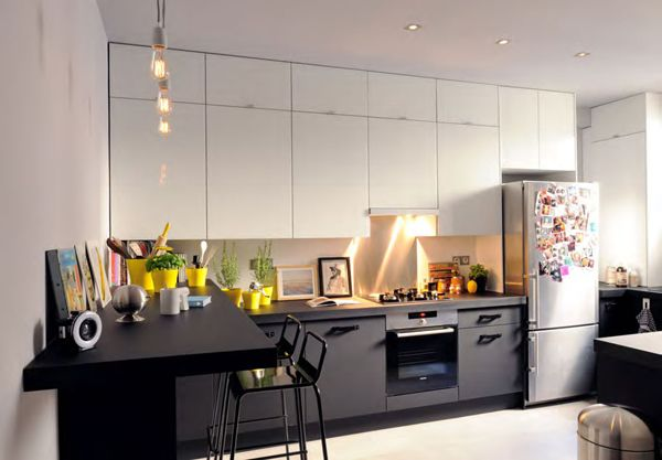 Cuisine noir mat leroy merlin kitchens pinterest for Cuisines leroy merlin avis