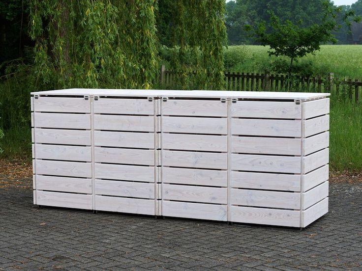32 besten 4er m lltonnenbox holz f r 120 l 240 l m lltonnen bilder auf pinterest. Black Bedroom Furniture Sets. Home Design Ideas