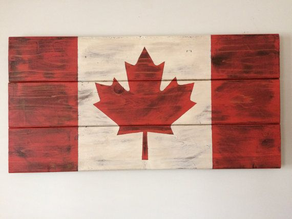 Canadian Flag On Reclaimed Barn Wood By Mbalfourdesigns On Etsy Canadian Flag Reclaimed Barn