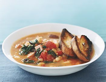 Find the recipe for Fast White-Bean Stew and other leafy green recipes at Epicurious.com