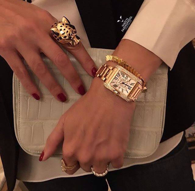 Cartier - Tank Anglaise diamond watch                                                                                                                                                                                 More