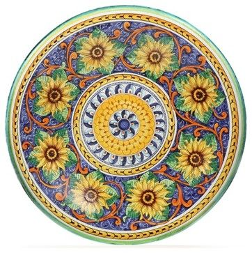 "Tuscan Spring Deep 22"" Decorative Plate - mediterranean - Decorative Plates - Prevailing Winds"