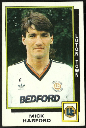 LEGEND: Mick Harford (9) One of Luton Town's best strikers of all time. Wearing the infamous no. 9 shirt. He scored 69 goals in 168 appearances for the town over two spells.