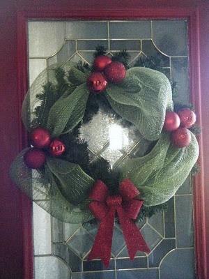 Cute deco mesh wreath
