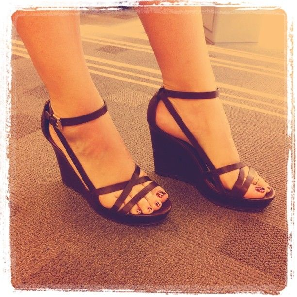 strappy coach wedges = <3 #shoes #wedges #coach