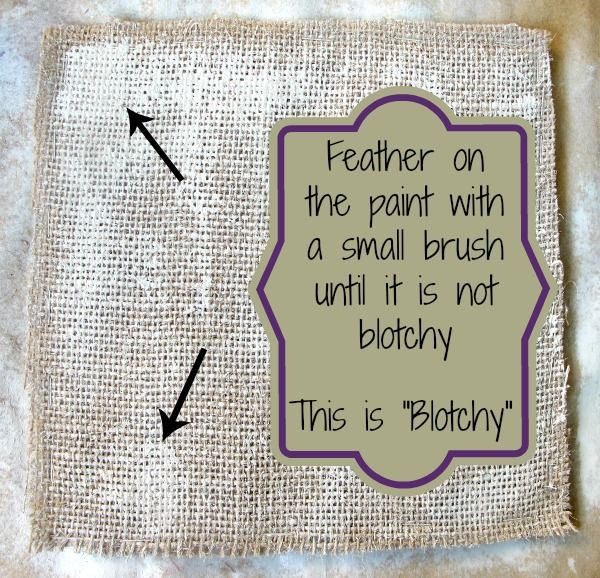 How to Paint Burlap - & create wall art