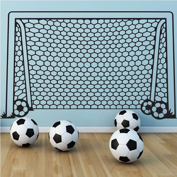 Sport Soccer Wall Decal Art Decor Sticker by VinylWallArtworks