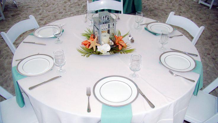 # coral # sage beach wedding