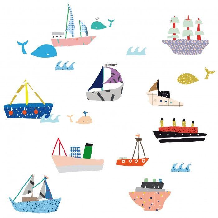 boats wallsticker mimi lou kamar tidur anak anak tidur on wall stickers stiker kamar tidur remaja id=32517