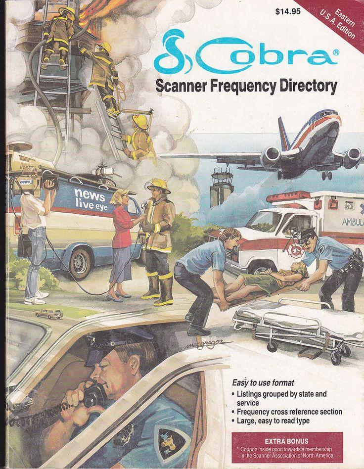 COBRA SCANNER RADIO  FREQUENCY DIRECTORY EASTERN USA EDITION 1988  | eBay