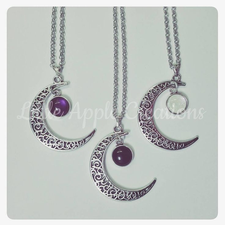 By Little Apple Creations   #rcnocrop #moon #necklaces #handmadejewelry #love #hot #potd
