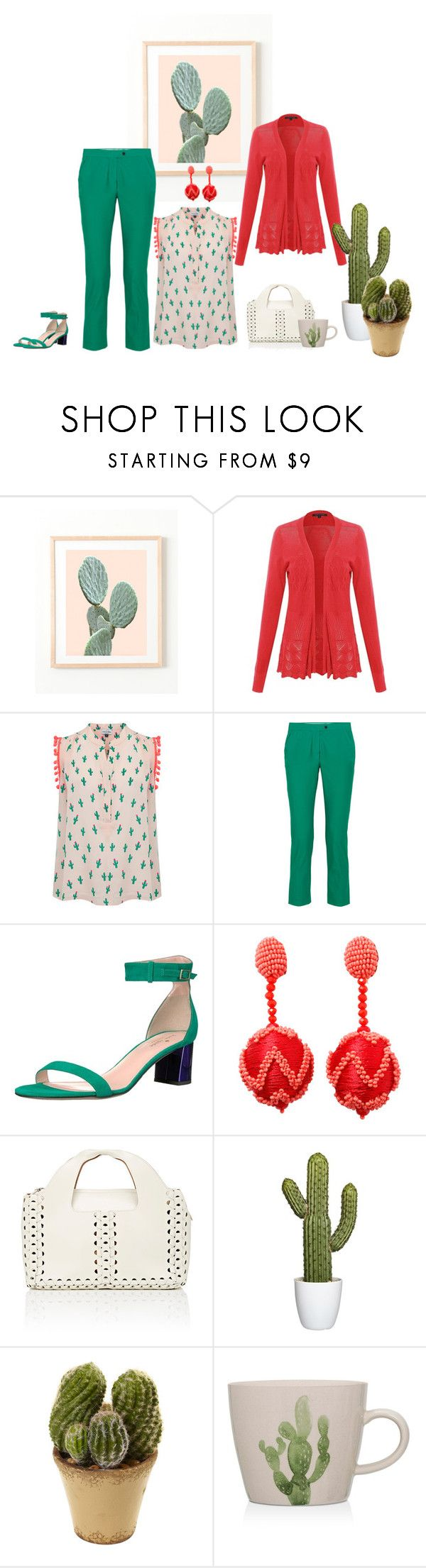 """""""Untitled #7527"""" by msdanasue ❤ liked on Polyvore featuring Mercy Delta, Joseph, Kate Spade, Oscar de la Renta, The Row and Bloomingville"""