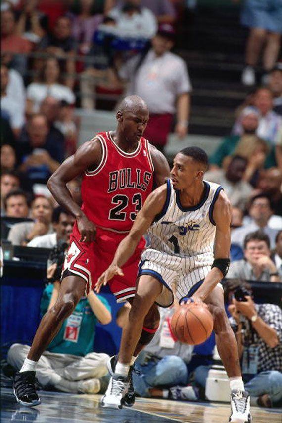 Anfernee Hardaway Orlando Magic Michael Jordan Chicago Bulls