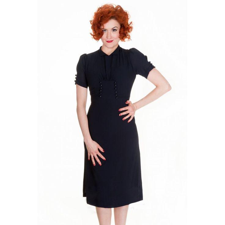 Lindy bop amelia vintage ww2 1940 s landgirl tea dress