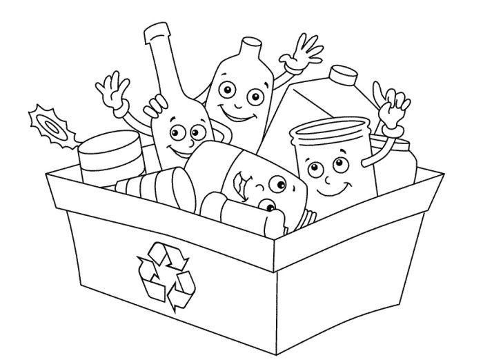 Třídění odpadu - omalovánky | i-creative.cz - Kreativní online magazín a omalovánky k vytisknutí