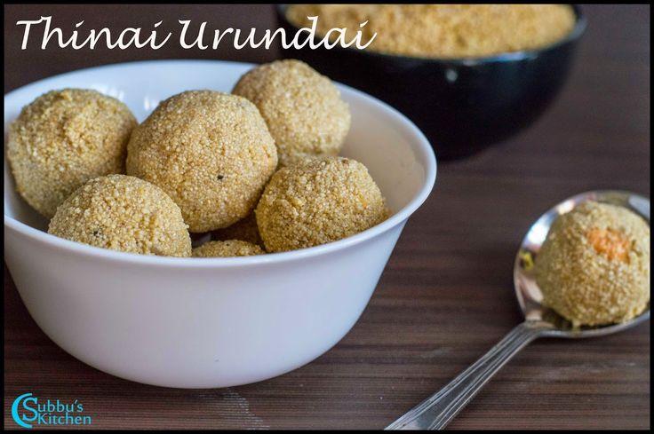 Thinai Urundai Recipe | Thinai Then Laddu| Foxtail Millet Honey Balls Recipe | Subbus Kitchen