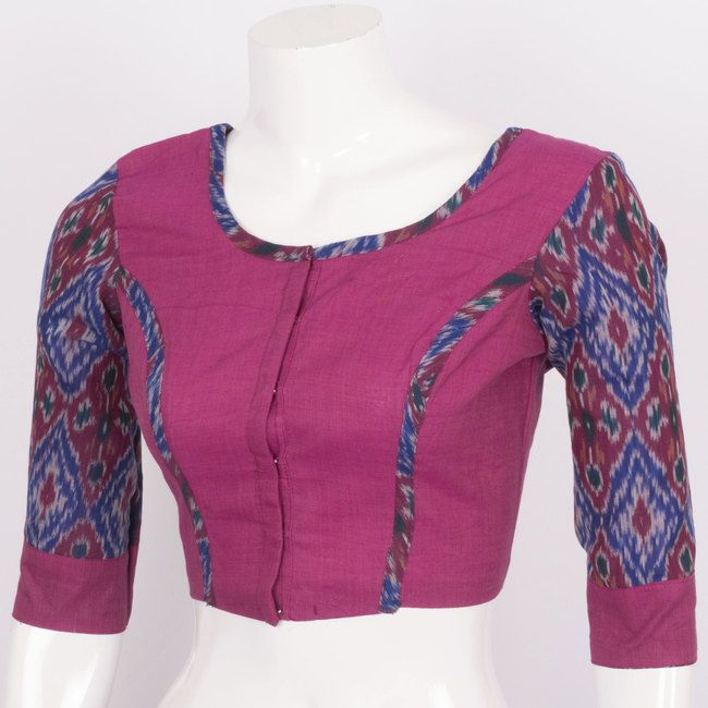 Tvaksati Hand Crafted Ikat Cotton Blouse 10008581 - profile - AVISHYA.COM