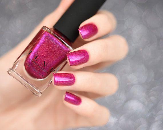 Bikini Bottoms – Vivid Magenta Pink Holographic Nail Polish