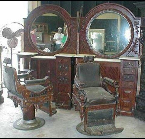Elegant Vintage Barber Station. Barbershop DesignBarbershop IdeasOld Fashion ...