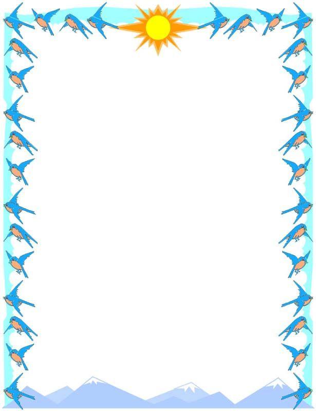 Birds border. Clipart bird clip art